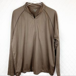 PEBBLE BEACH Brown Performance Pullover Large